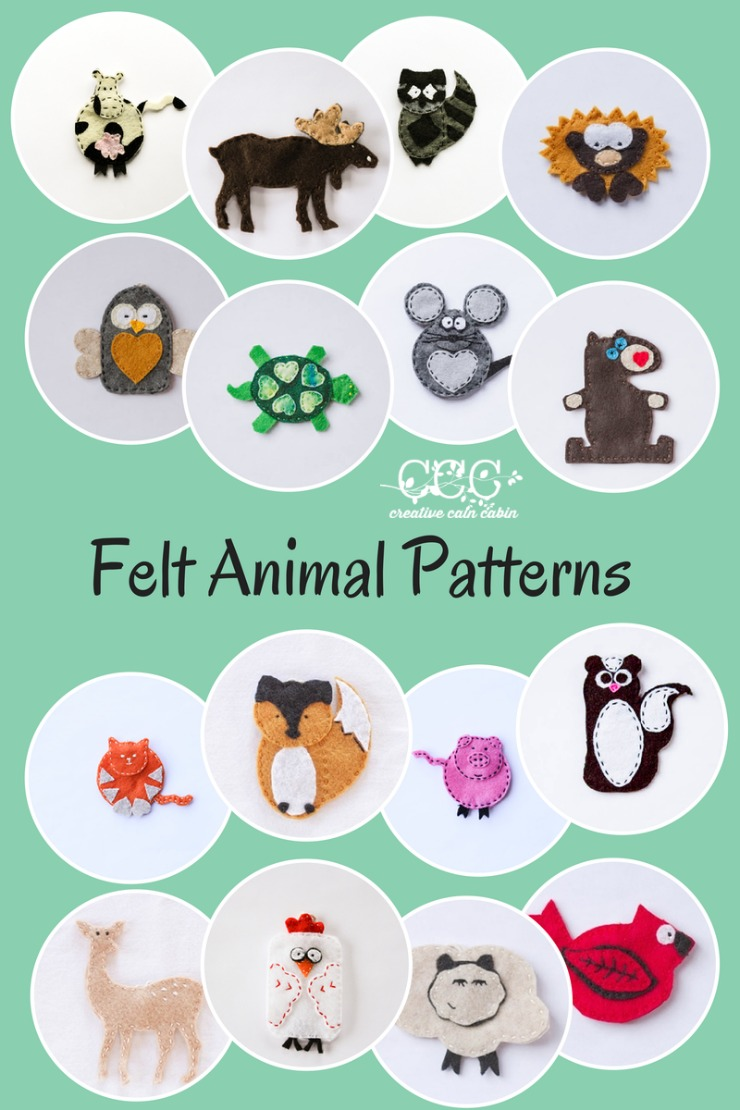 7 Felt Animal Templates Images - Felt Animal Patterns ...