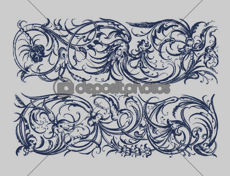 Flourish Vector Border Baroque