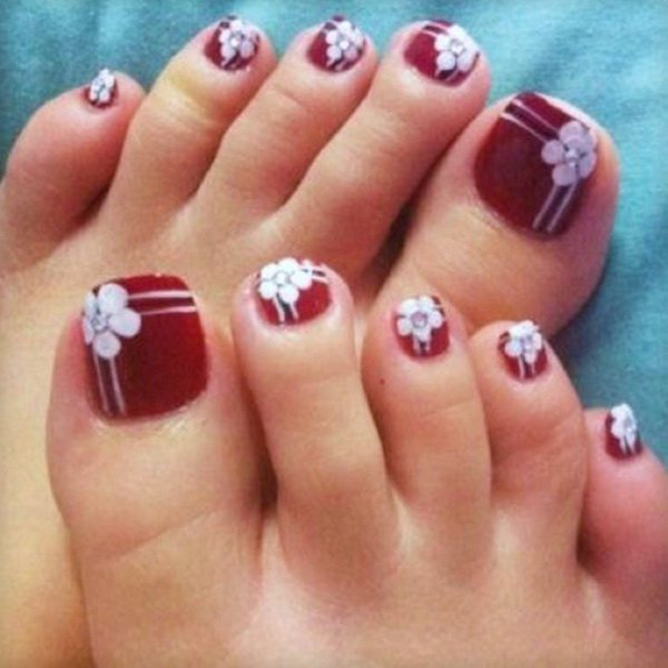 16 Designs For Your Toenails Images