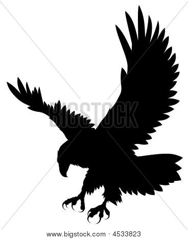 10 Flying Eagle Silhouette Vector Images