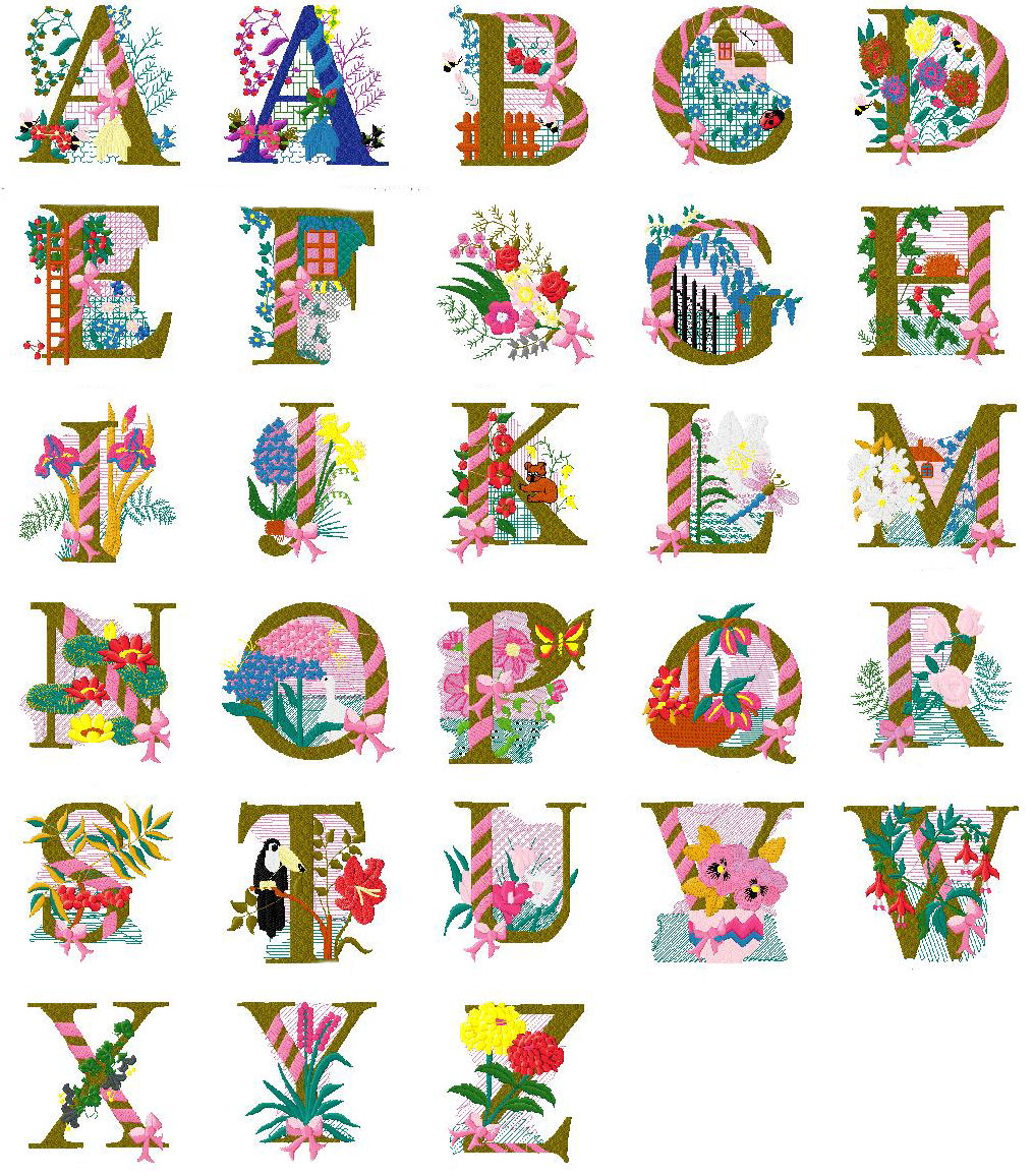 Free Embroidery Design of the Alphabet Letters