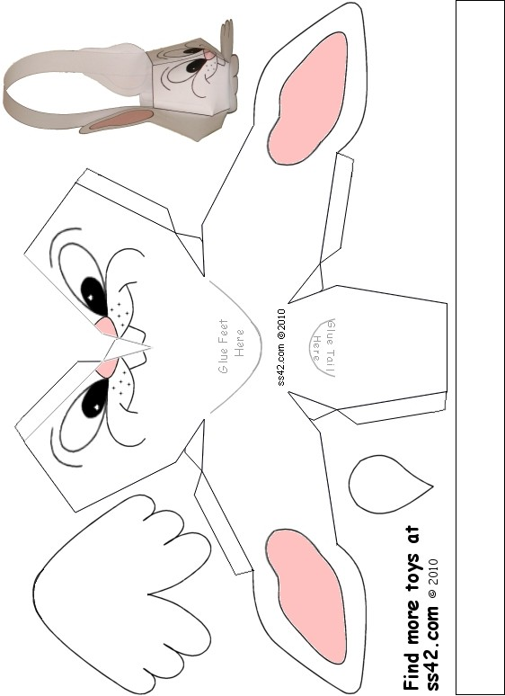 16 Easter Bunny Basket Template Images