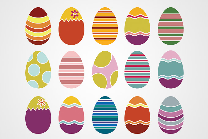 Free Vector Easter Eggs