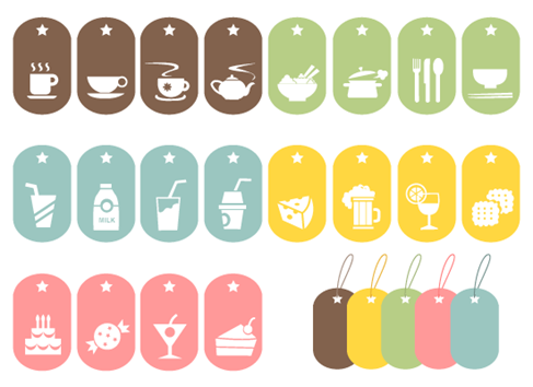 19 Food Symbols Vector Graphics Images