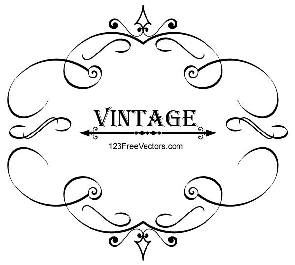 Free Vintage Frame Vector Art