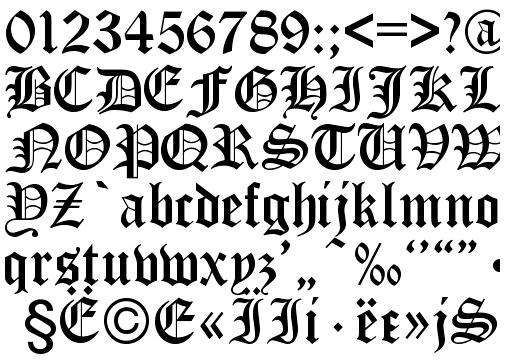 German Gothic Font