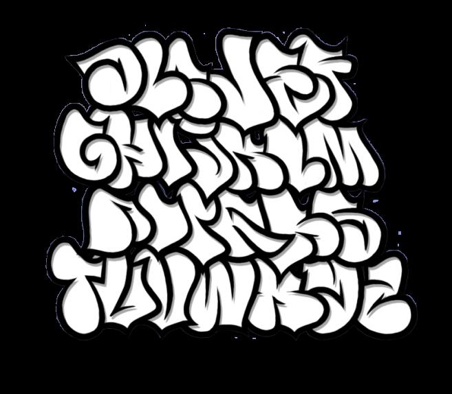 Graffiti Alphabet Bubble Letters