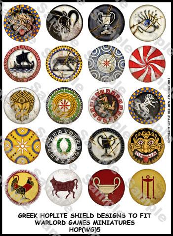 Greek Hoplite Shield Designs