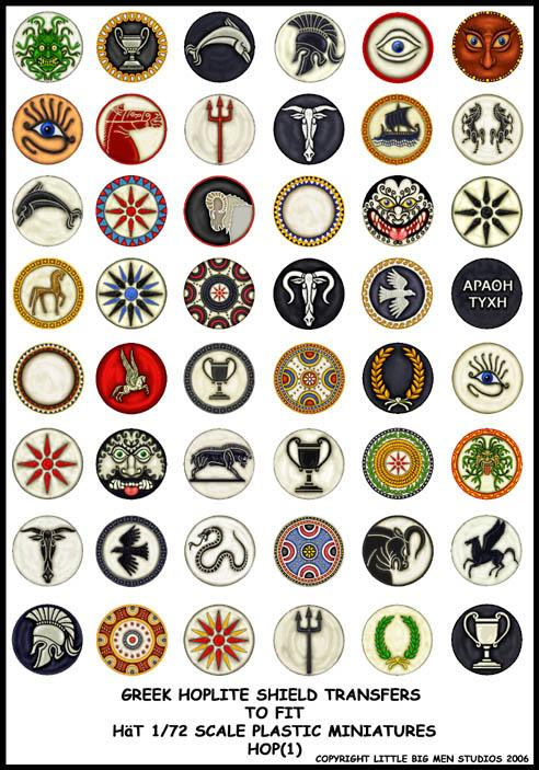 Greek Hoplite Shield Symbols
