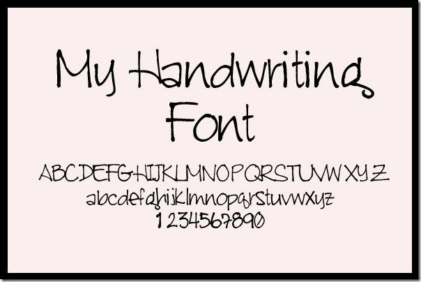 13 Easy And Cool Handwriting Fonts Images - Cool Font ...
