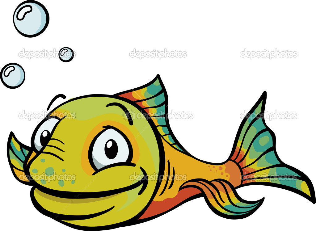 Happy Cartoon Fish