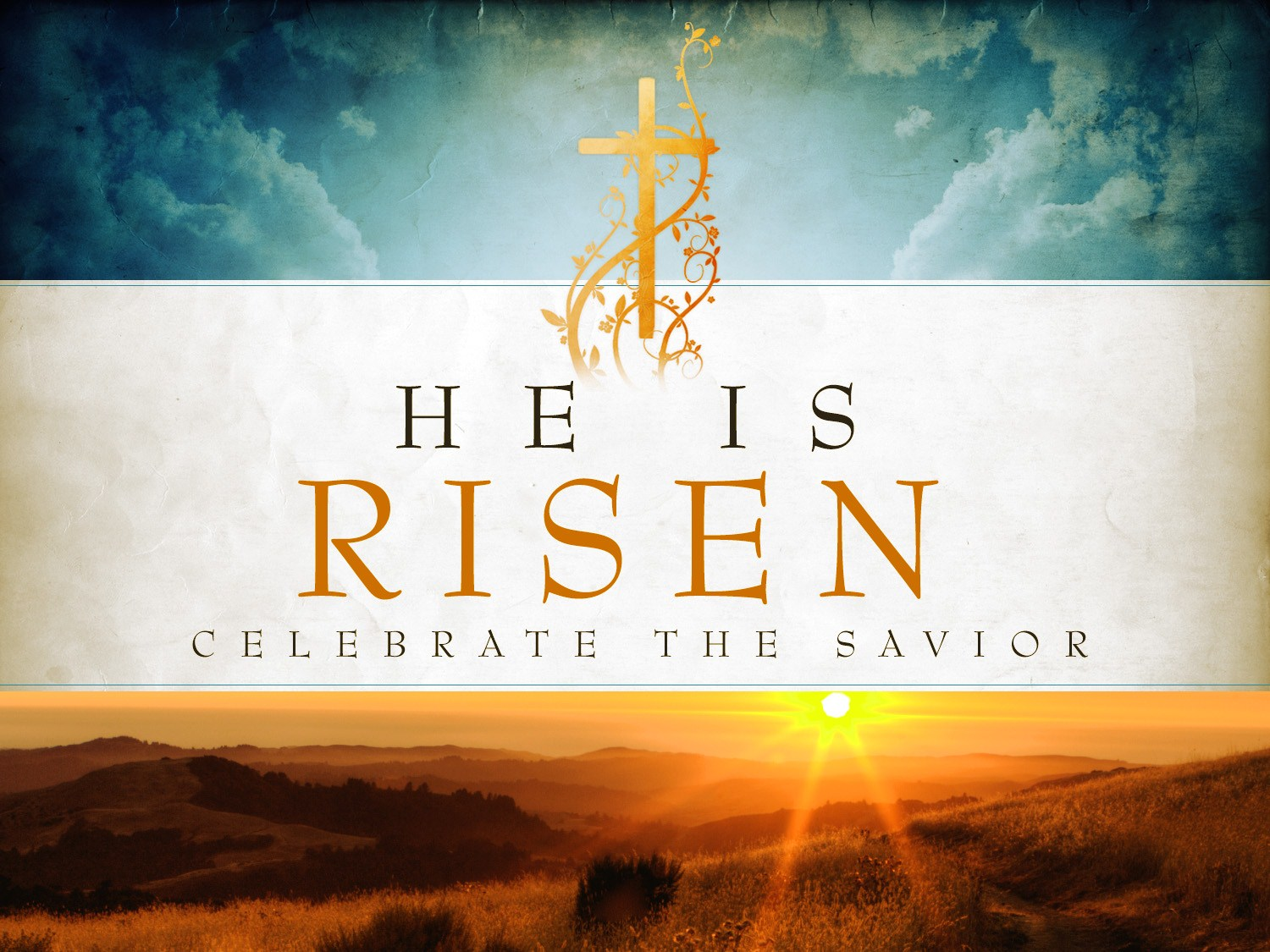 He Has Risen Easter Backgrounds Religious