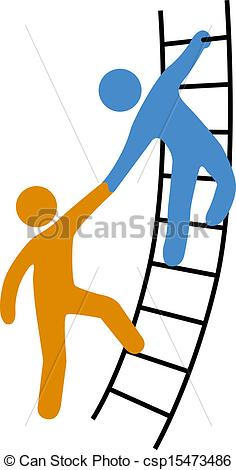 Helping People Up Clip Art