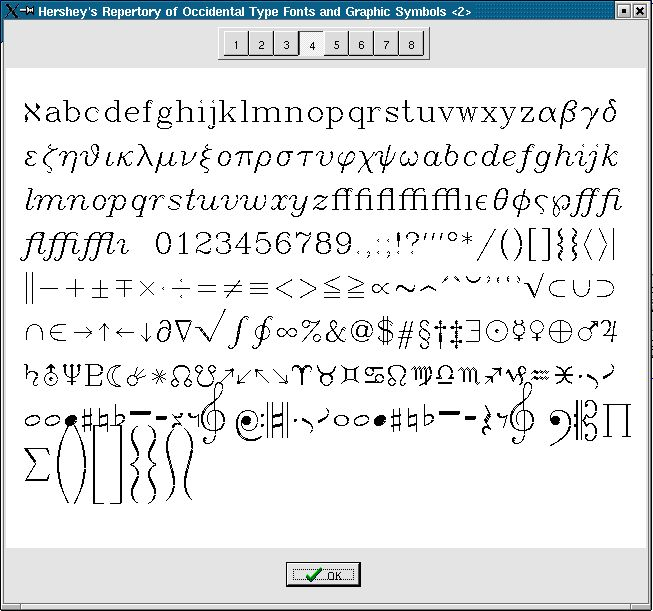Hershey Font