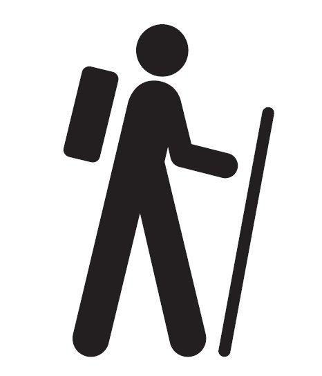 Icon Walking Man Symbol