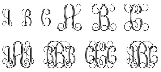 9 Free Interlocking Monogram Font Images