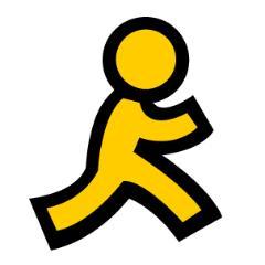 Little Yellow Running Man Logo