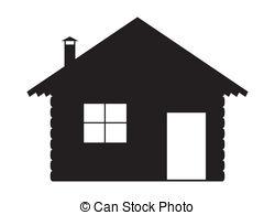 Log Cabin Silhouette Clip Art