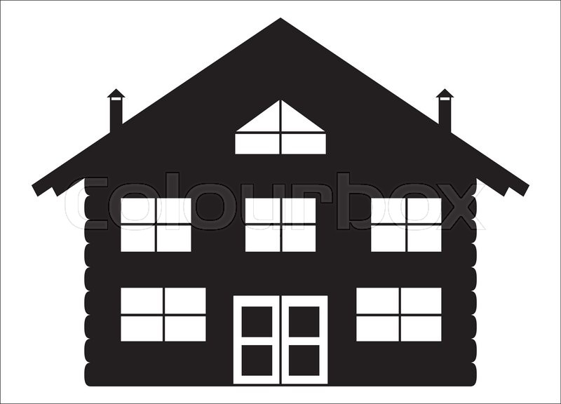 Log Cabin Silhouette Vector