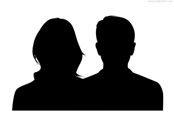 Male and Female Couple Silhouette