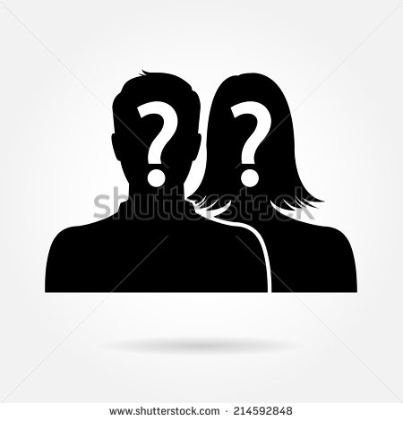 Male and Female Silhouette Vector