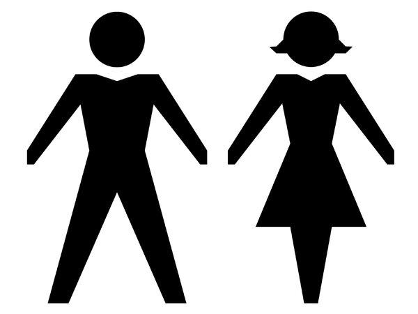 Man and Woman Stick Figure