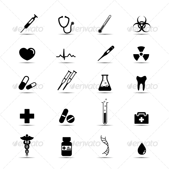 10 Health Icon Black And White Images