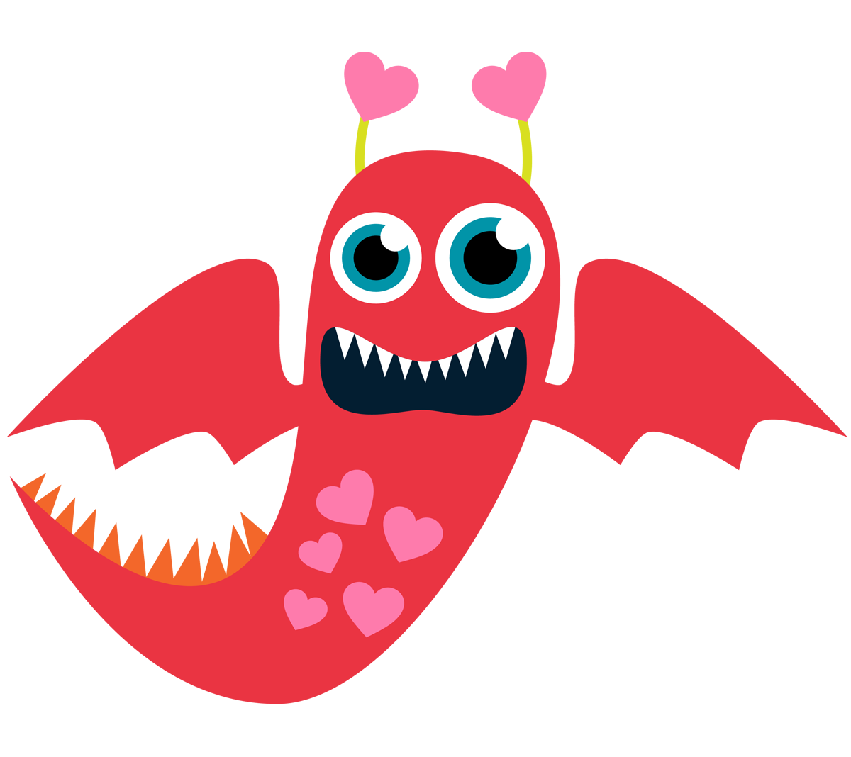 Monster Valentine Clip Art Free
