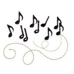 7 Music Notes Embroidery Designs Images