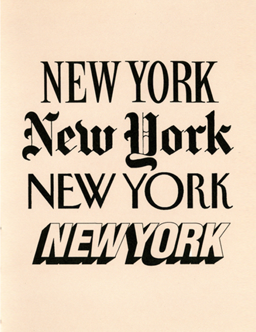 13 New York Font Images