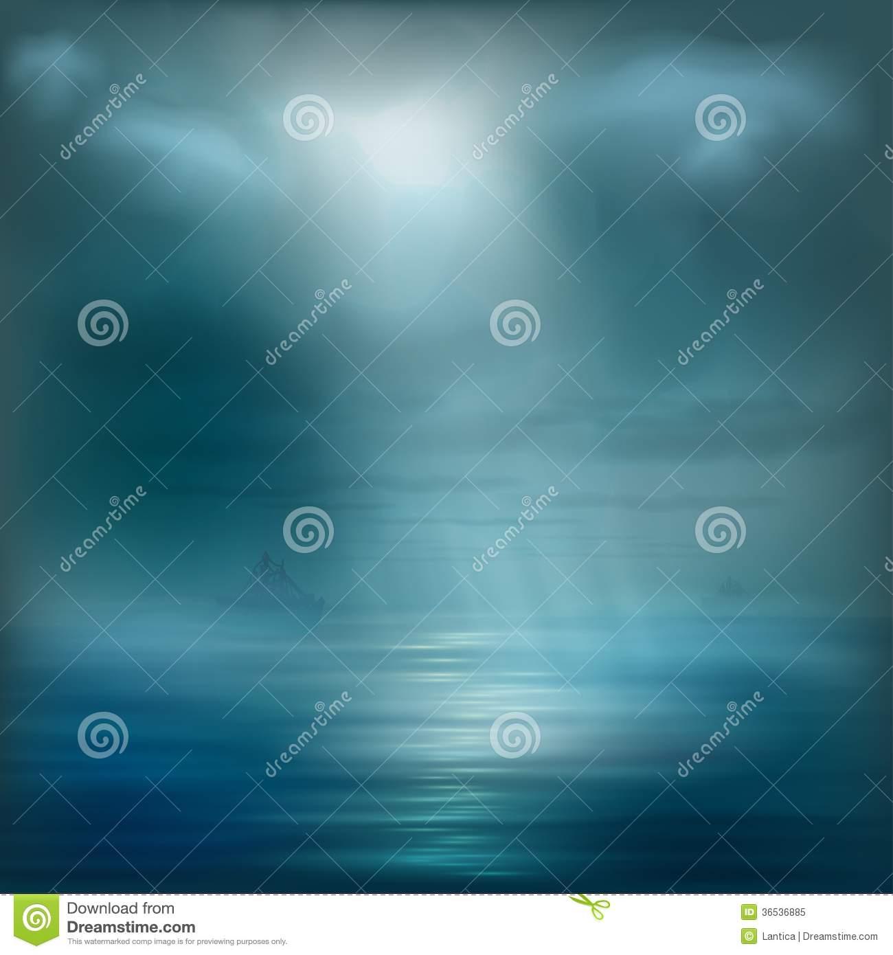 Ocean Water with Light