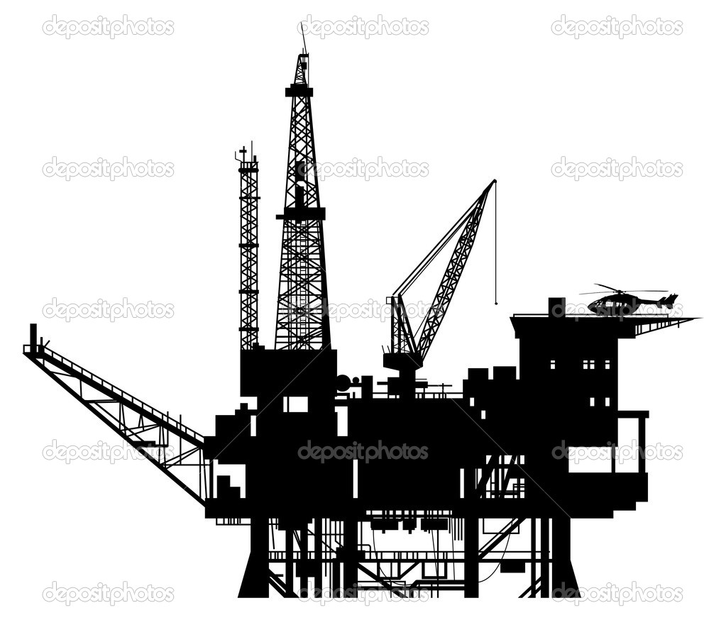 9 Oil Rig Vector Images