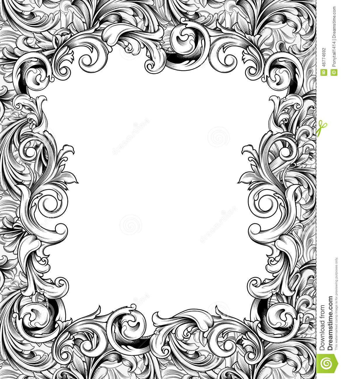 Ornate Baroque Frame