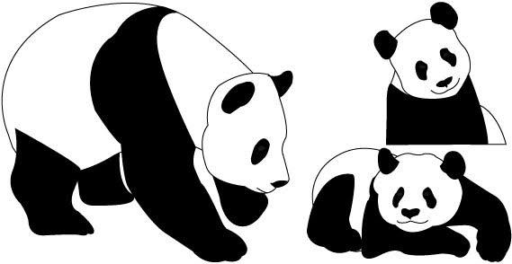 18 Panda Vector Free Images