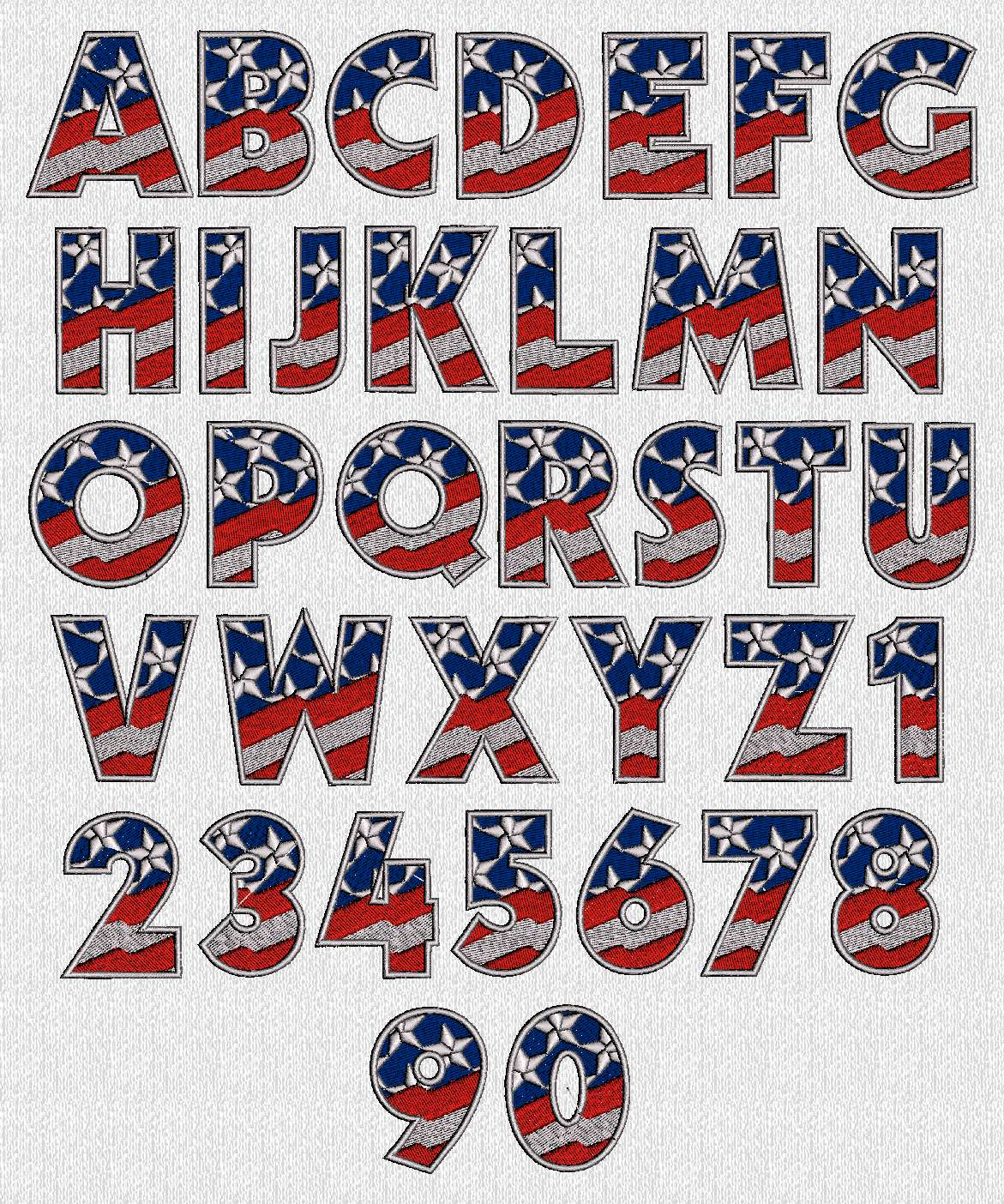 16 Patriotic Font Numbers Images