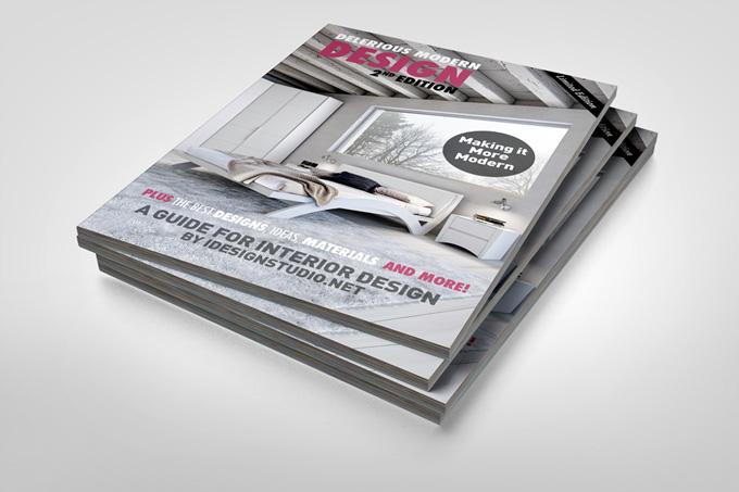 Photorealistic Brochure Magazine Mockup
