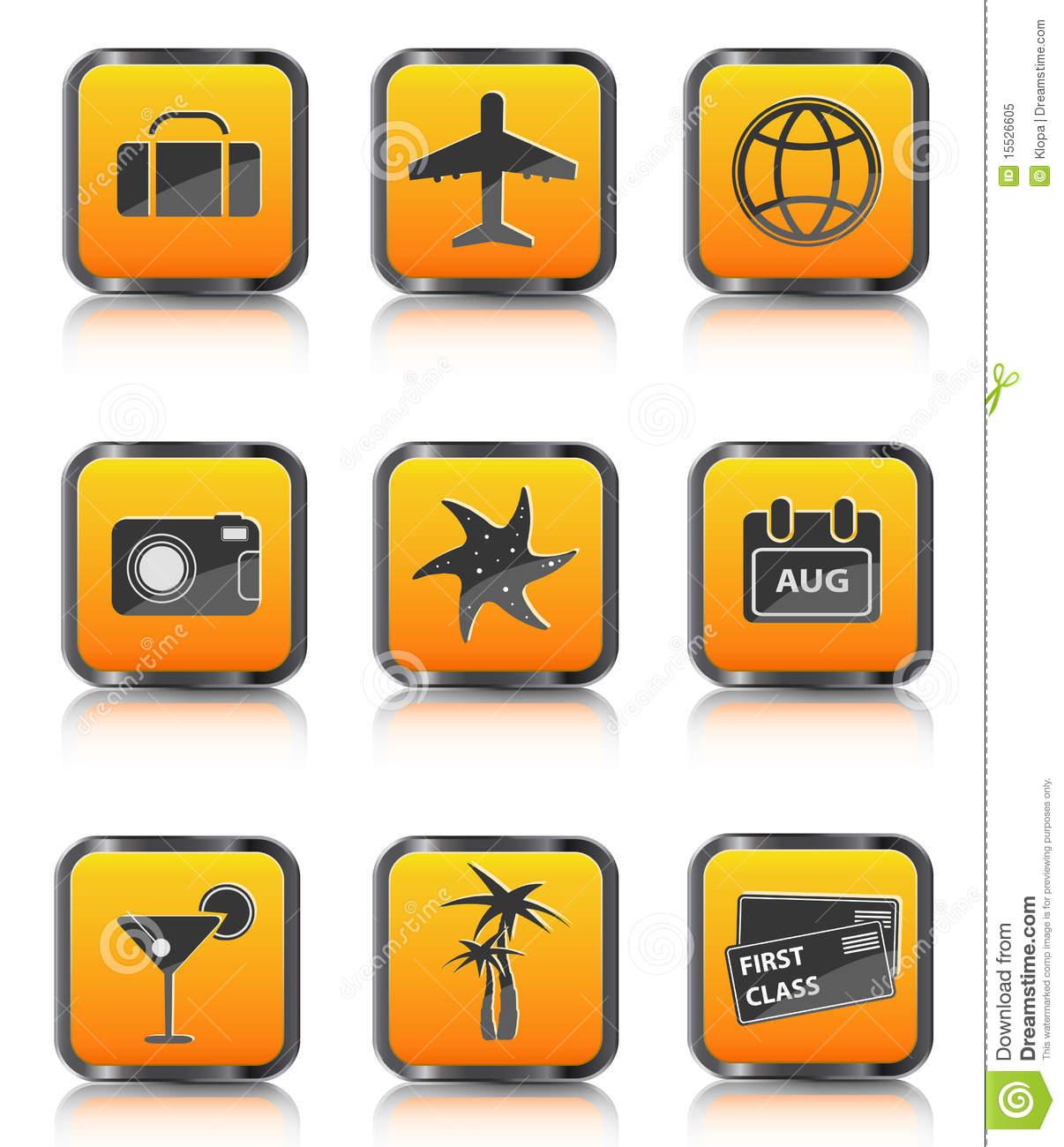 Plane Travel Suitcase Icon