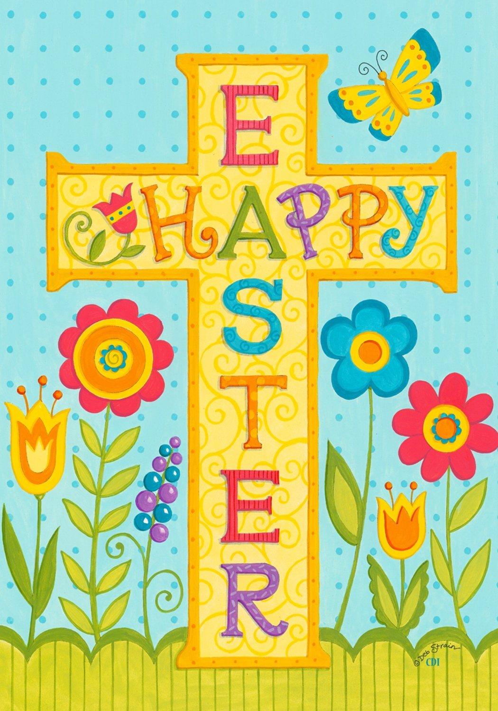 Religious Happy Easter Cross