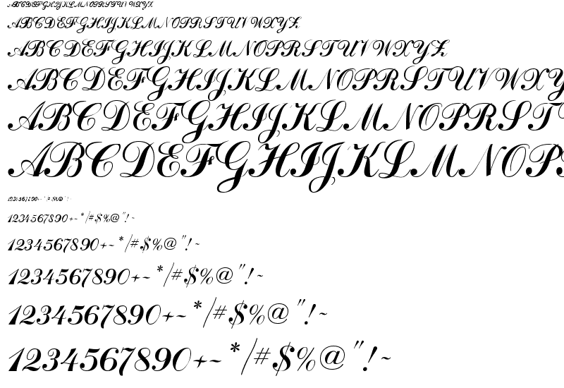 Script Font Examples