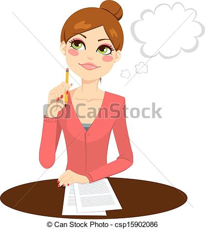 Secretary Clip Art Drawing