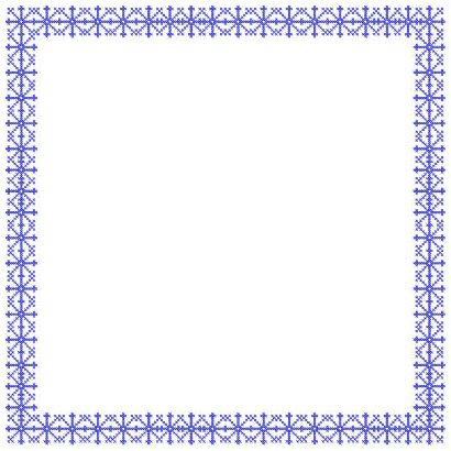 Snowflake Cross Stitch Frames and Borders