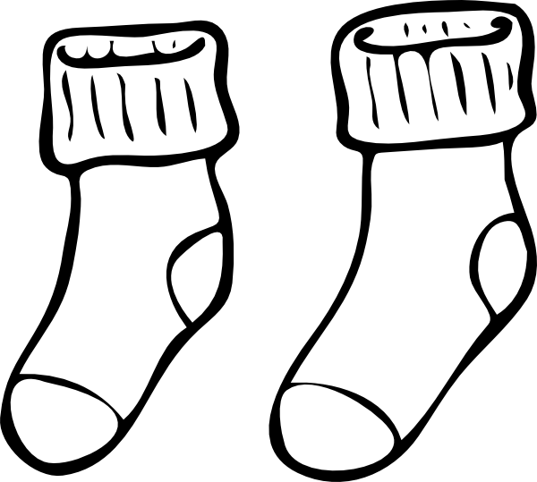 14 Socks Outline Template Images