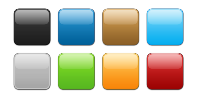 15 3D Square Button Icons Images - Red Web Button, Red ...