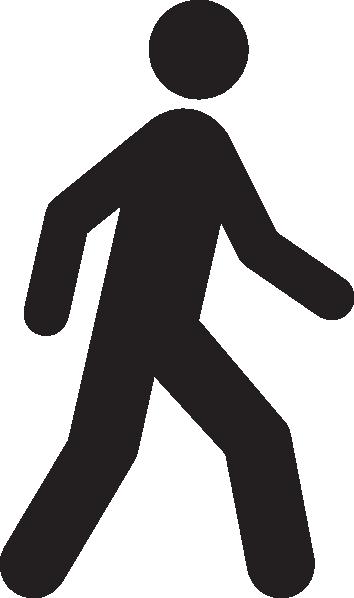 Stick Person Walking Clip Art