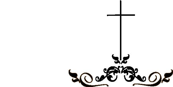 Swirl Cross Clip Art