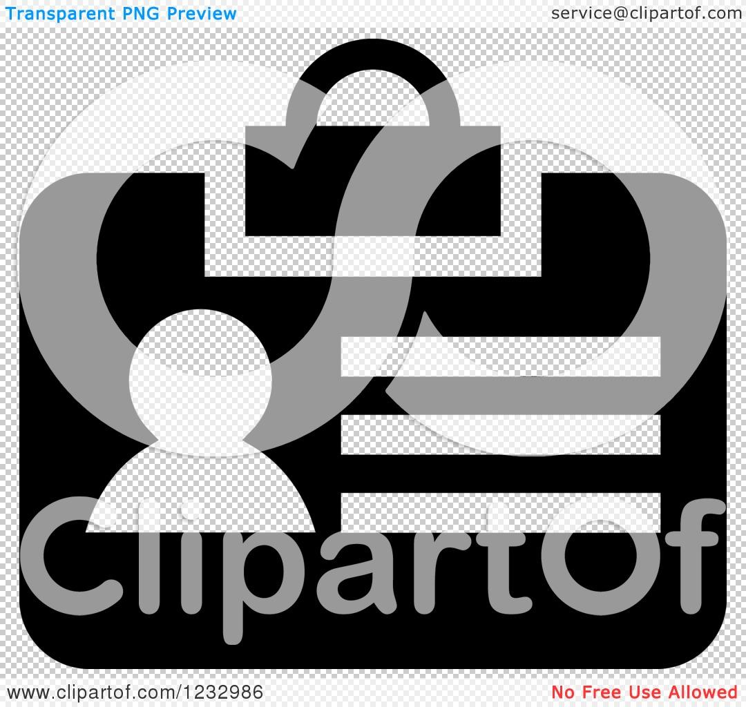 Transparent Clip Art Black and White Business Icons