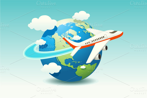 vacation airplane clip art - photo #7