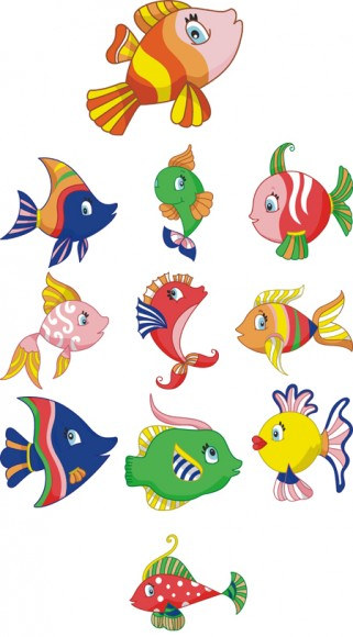 Tropical Fish Embroidery Designs