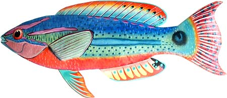 Tropical Fish Metal Wall Art