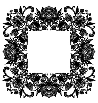 Vintage Flourish Border Vector
